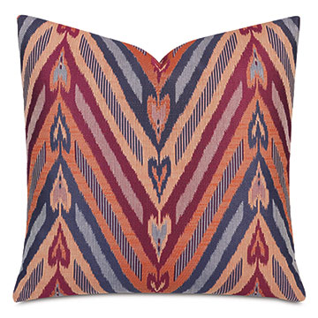 Comparsa Decorative Pillow In Burgundy