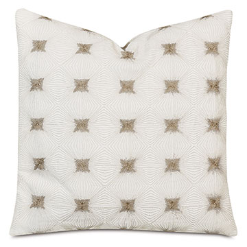 Tesseract Decorative Pillow In Ivory