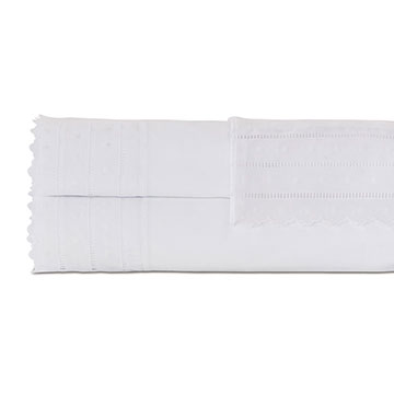 Harper White Sheet Set