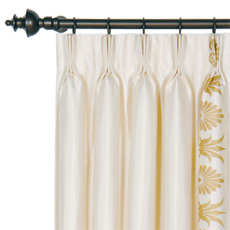 ANTHEMION IVORY/GOLD CURTAIN PANEL