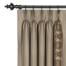 ANTHEMION TAUPE/BROWN CURTAIN PANEL