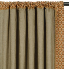 BREEZE OLIVE CURTAIN PANEL LEFT
