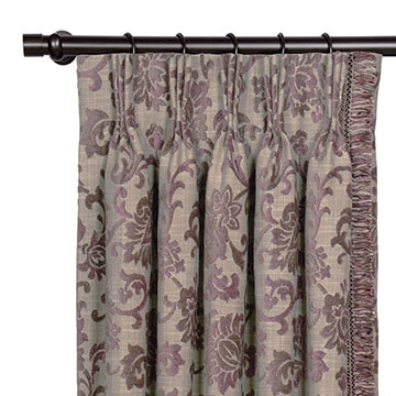 MICA GUNMETAL CURTAIN PANEL LEFT