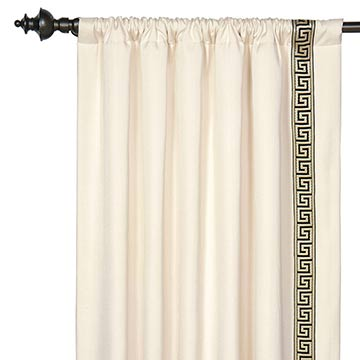 FOLLY PARCHMENT CURTAIN PANEL LEFT