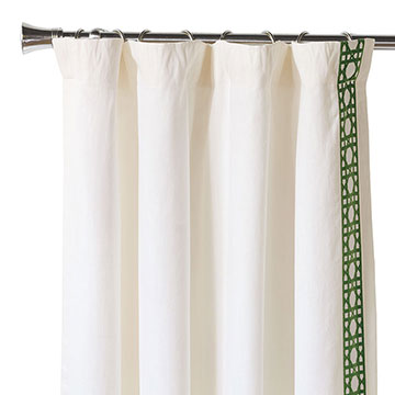 Baldwin White Curtain Panel Left