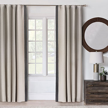 Greer Linen Curtain Panel (Left)