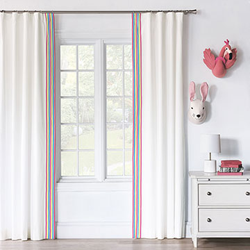 ESSEX WHITE CURTAIN PANEL LEFT