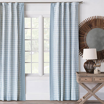 PASHA SKY CURTAIN PANEL LEFT