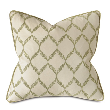 DUBLIN EMBROIDERED DECORATIVE PILLOW