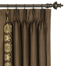 ANTHEMION BROWN/GOLD CURTAIN PANEL