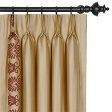 ANTHEMION GOLD/SHIRAZ CURTAIN PANEL