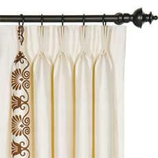 ANTHEMION IVORY/BROWN CURTAIN PANEL