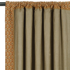 BREEZE OLIVE CURTAIN PANEL RIGHT