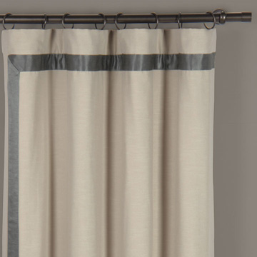 WITCOFF TAUPE CURTAIN PANEL RIGHT