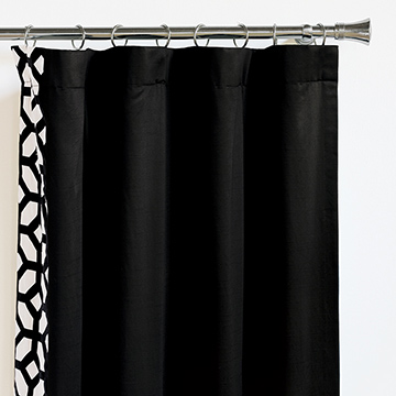 WITCOFF BLACK CURTAIN PANEL RIGHT