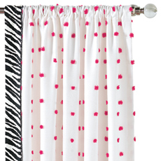 SHAY FUSCHIA CURTAIN PANEL RIGHT
