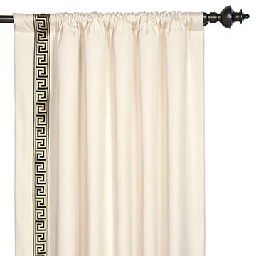 FOLLY PARCHMENT CURTAIN PANEL RIGHT