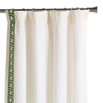 Baldwin White Curtain Panel Right