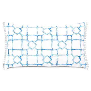 CASTAWAY LATTICE DECORATIVE PILLOW