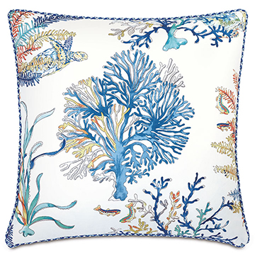 CASTAWAY CORAL REEF DECORATIVE PILLOW