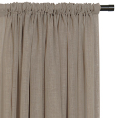 PALAPA MOCHA CURTAIN PANEL