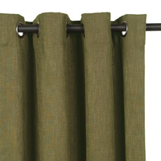 HABERDASH PESTO CURTAIN PANEL