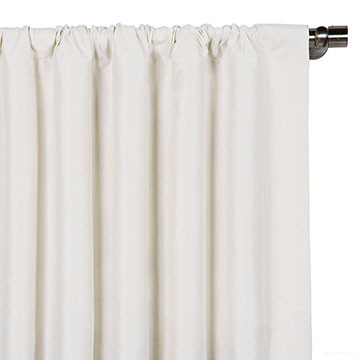 Edris White Curtain Panel