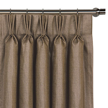 Meridian Mocha Curtain Panel