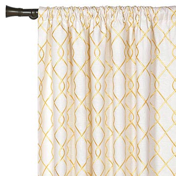 Terrace Canary Curtain Panel