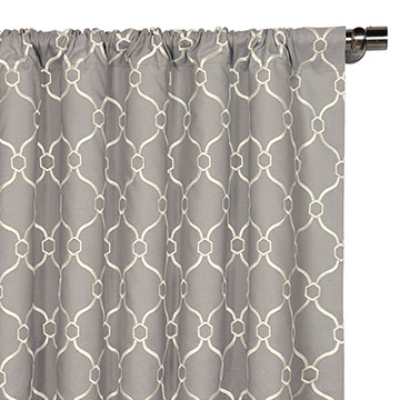 Theodore Silver Curtain Panel
