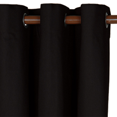 ELI BLACK CURTAIN PANEL