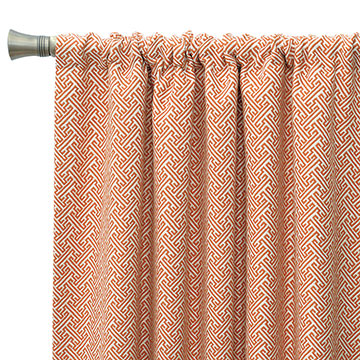 Ingalls Orange Curtain Panel