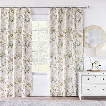 Magnolia Mint Curtain Panel