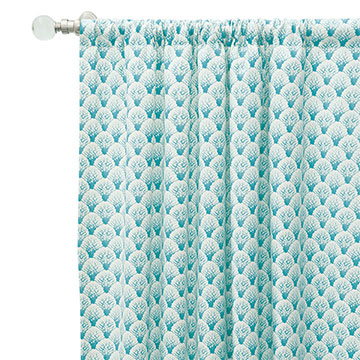 Koopa Teal Curtain Panel