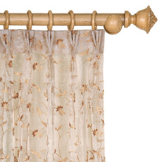 ALEXIA HONEY CURTAIN PANEL