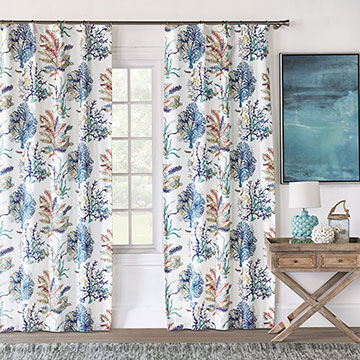 CASTAWAY CORAL REEF CURTAIN PANEL
