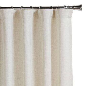 Ledger White Curtain Panel