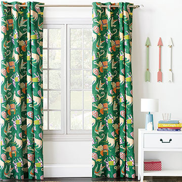 HULLABALOO GROMMET CURTAIN PANEL IN GREEN