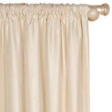 CHESTER CREME CURTAIN PANEL