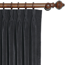 JACKSON CHARCOAL CURTAIN PANEL