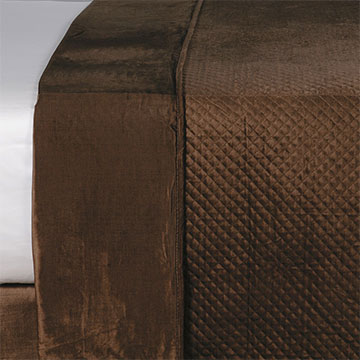 REUSS MOCHA COVERLET