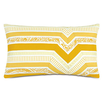 Adelle Ombre Decorative Pillow in Sunshine