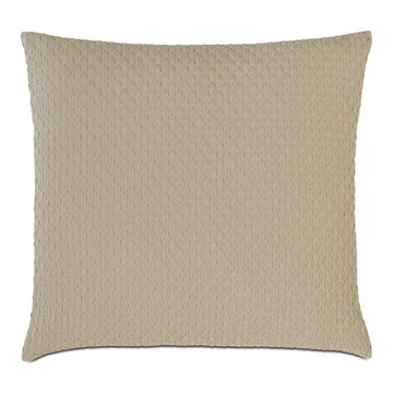 Tegan Matelasse Decorative Pillow in Sand