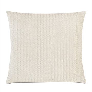 Tegan Matelasse Decorative Pillow in Ivory