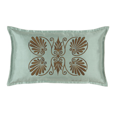ANTHEMION OCEAN/BROWN DEC PILLOW B