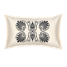ANTHEMION IVORY/BLACK DEC PILLOW B