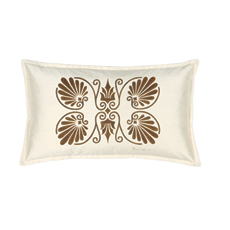 ANTHEMION IVORY/BROWN DEC PILLOW B