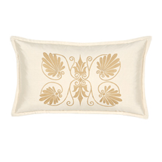 ANTHEMION IVORY/GOLD DEC PILLOW B