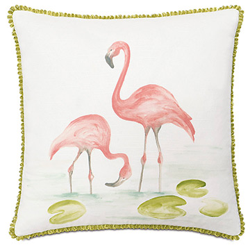 Hand-painted flamingos