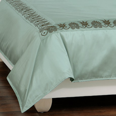ANTHEMION OCEAN/BROWN DUVET COVER and Comforter